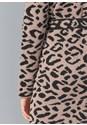 Detail back view Leopard Print Cardigan
