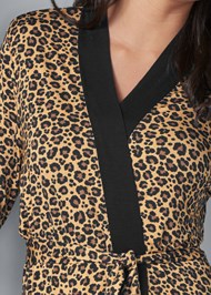 Alternate View Animal Print Robe