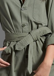 Alternate View Belted Utility Romper