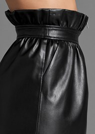 Alternate View Paperbag Faux Leather Skirt