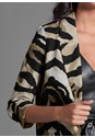 Alternate View Tiger Print Long Blazer