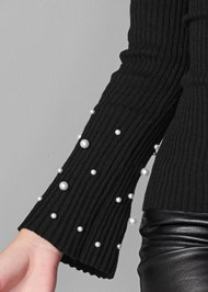 Alternate View Pearl Detail Sweater