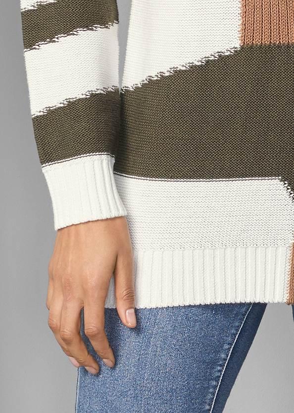 Alternate View Patchwork Mock Neck Sweater
