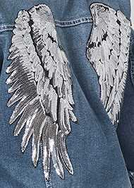 Alternate View Sequin Detail Jean Jacket