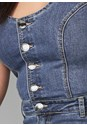 Alternate View Overall Denim Jumpsuit