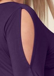 Alternate View V-Neck Cold Shoulder Top