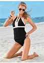 Full front view High Neck V Neck Tankini