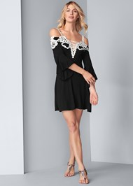 Full front view Cold Shoulder Lace Dress