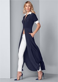 Full front view Collared Maxi Top