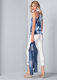 Full back view Surplice Paisley Top