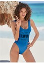 Cropped front view Swim With Us One-Piece