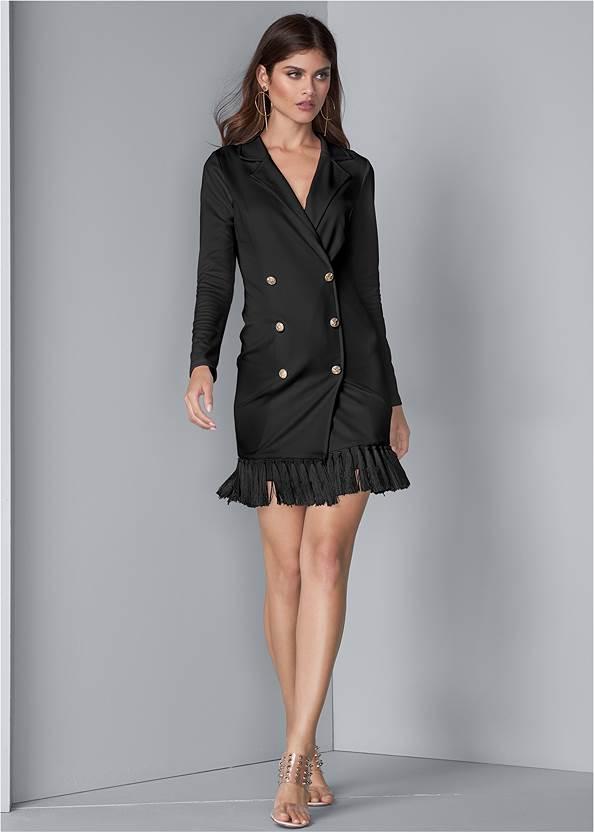 Front View Tassel Coat Dress