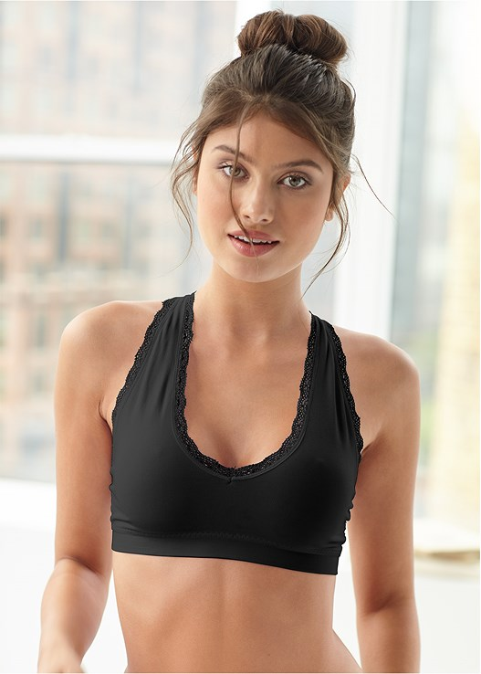 DEEP V COMFORT BRA 2PK,LACE TOP BRIEF 5 FOR $29