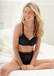 Cropped front view Unlined Demi Bra