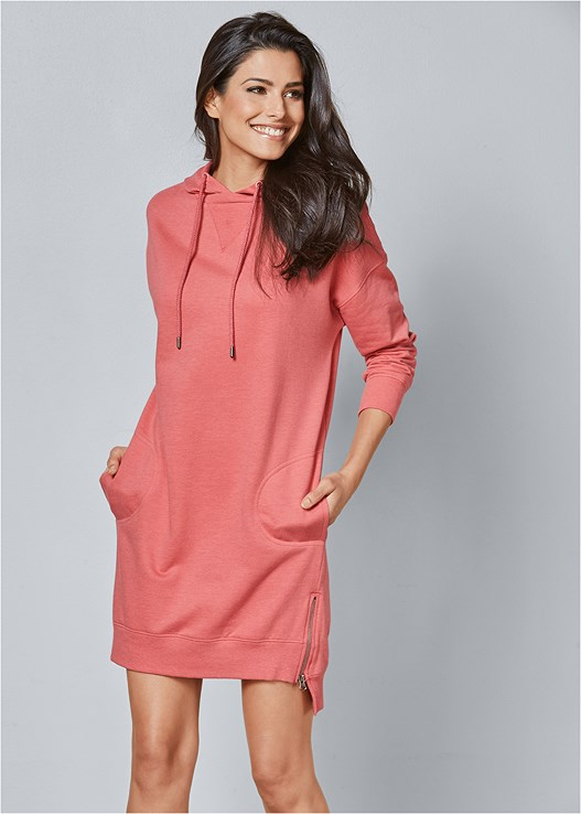 COZY SWEATSHIRT DRESS,NAKED T-SHIRT BRA