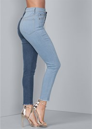 Waist down side view Duo Tone Jeans