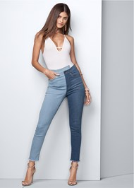 Front View Duo Tone Jeans