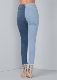 Waist down back view Duo Tone Jeans
