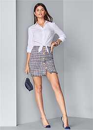Full front view Tweed Mini Dress