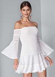Alternate View Tiered Ruffle Chiffon Dress