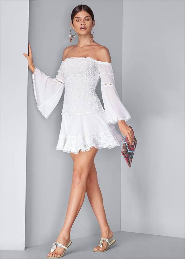 Full front view Tiered Ruffle Chiffon Dress