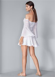 Full back view Tiered Ruffle Chiffon Dress