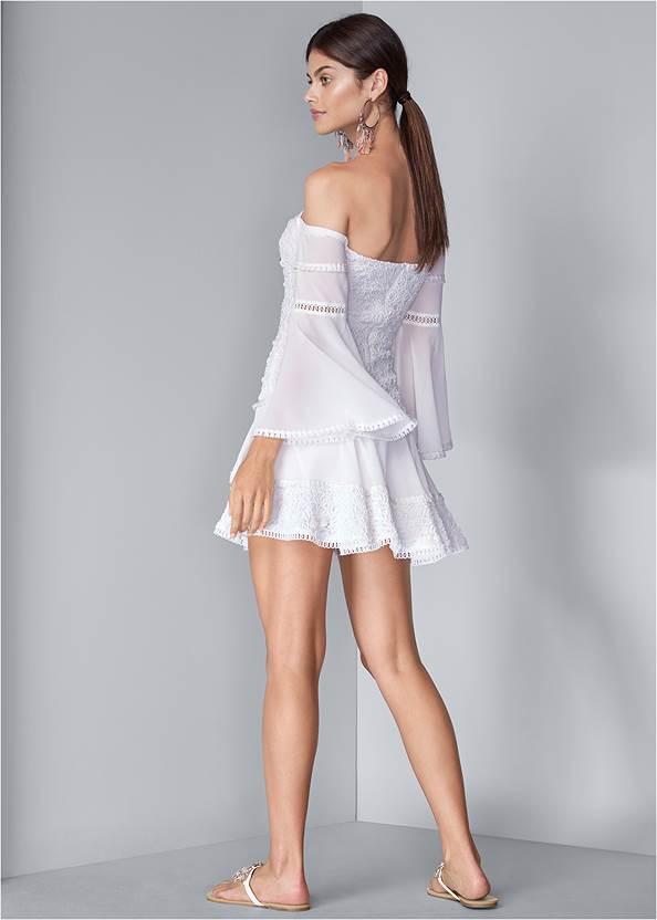 Full back view Tiered Ruffle Chiffon Dress