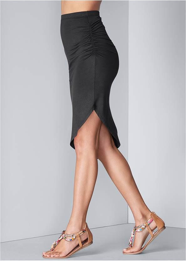 Waist down side view Easy Midi Skirt