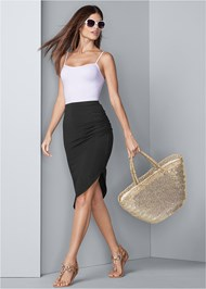 Front View Easy Midi Skirt