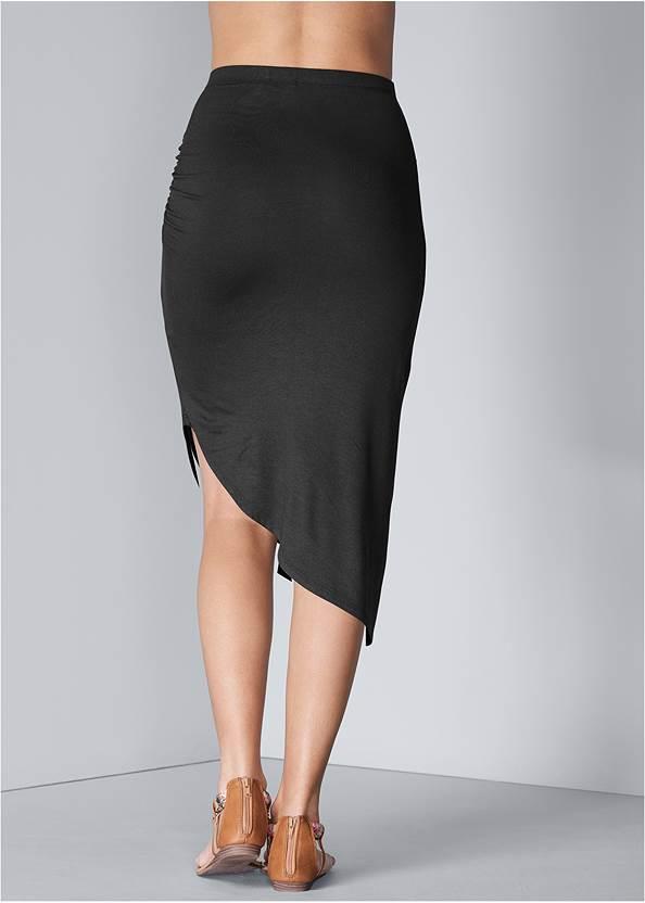 Waist down back view Easy Midi Skirt