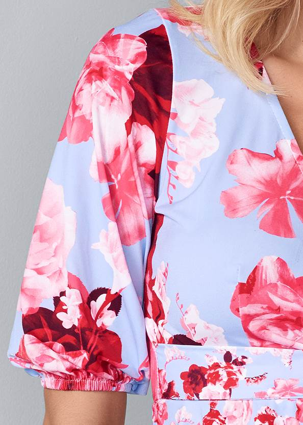 Alternate View One Shoulder Floral Top
