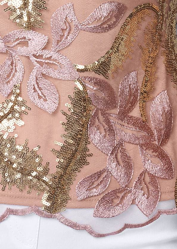 Alternate View Embroidered Floral Blouse