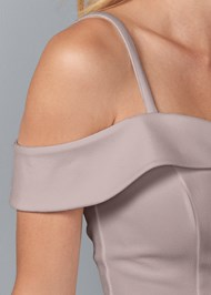 Alternate View Cold Shoulder Peplum Top