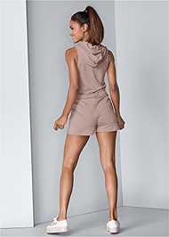 Alternate View Lace Up Romper
