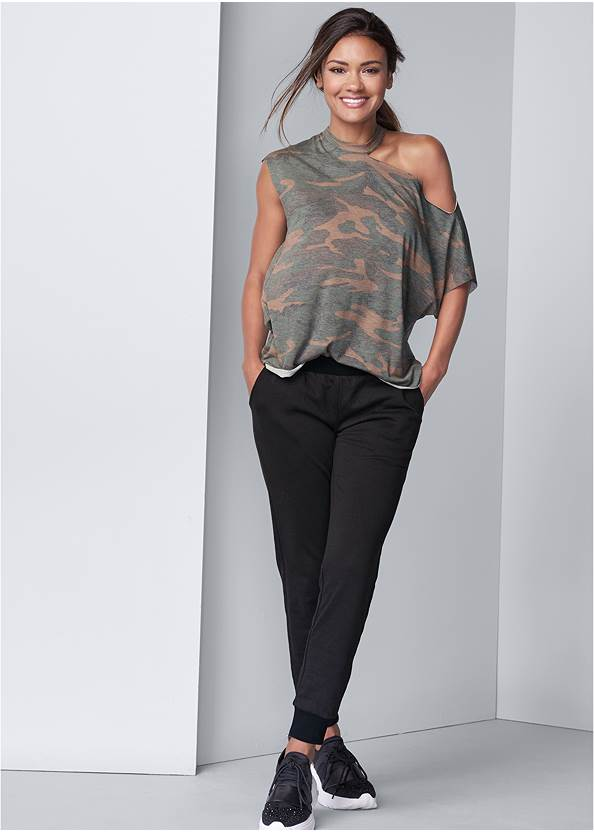 Full front view Camo Lounge Top