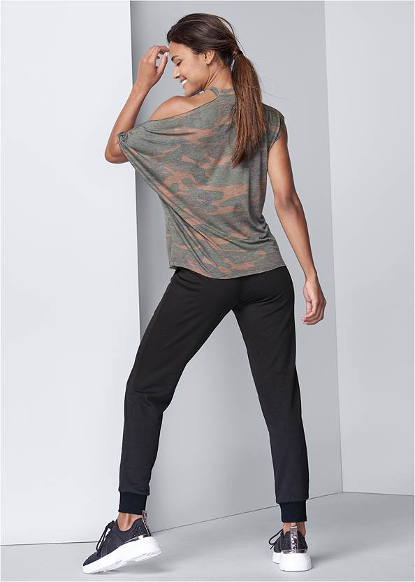 Full back view Camo Lounge Top