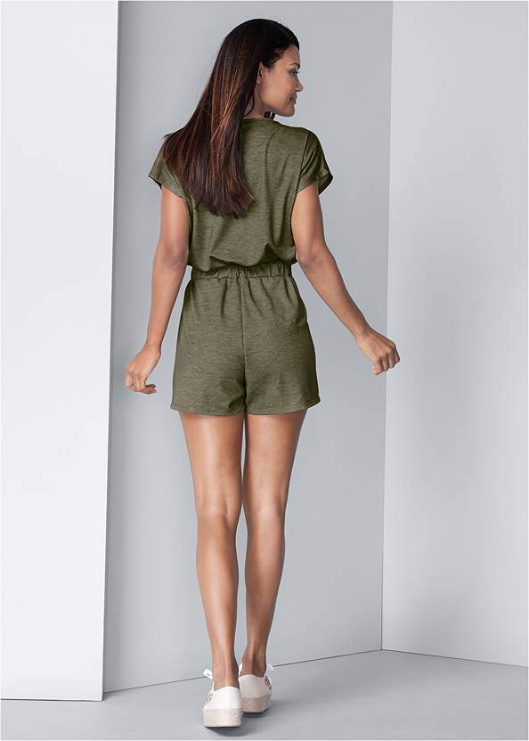 Full back view Lace Detail Lounge Romper