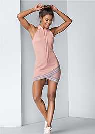Full front view Hooded Detail Dress