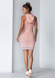 Full back view Hooded Detail Dress