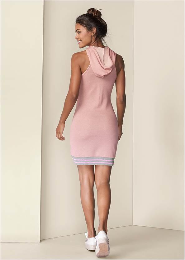 Full back view Hooded Detail Dress