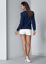 Full back view Color Block Sweatshirt