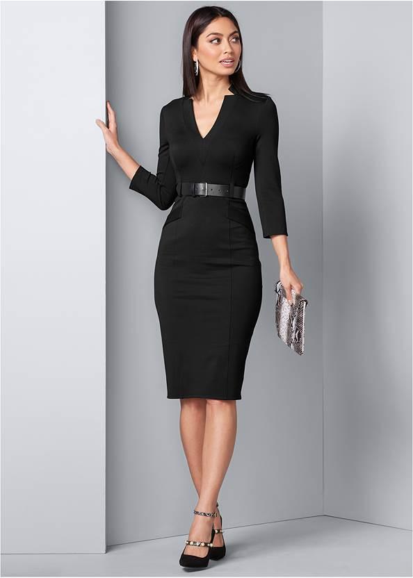 Belted Dress,Confidence Seamless Dress,Python Clutch
