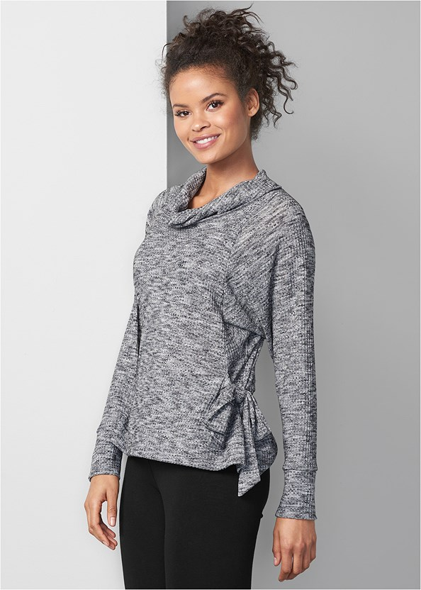 Tie Detail Lounge Top,Basic Leggings