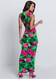 Alternate View V-Neck Maxi Dress