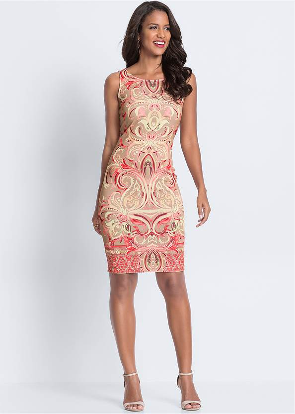 Full  view Printed Bodycon Dress