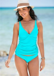 Front View Underwire Twist Tankini Top