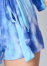 Detail front view Casual Tie Dye Romper