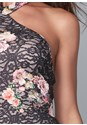 Detail front view Floral Lace Bodycon Dress