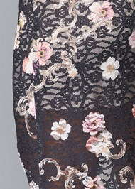 Detail back view Floral Lace Bodycon Dress