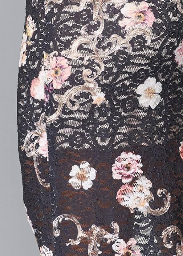 Detail back view Floral Lace Bodycon Dress